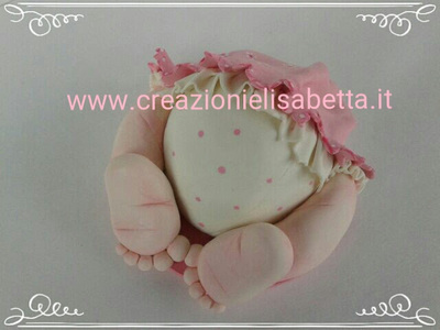 art.672, Cake Topper culetto di bimbo