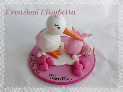 art. 673, Cake Topper Cicogna