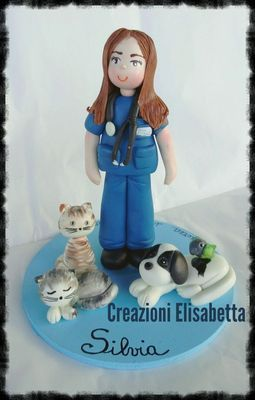 cake Topper Laurea in Veterinaria