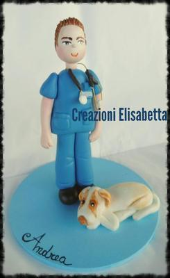 Cake Topper Veterinario